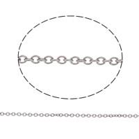 Edelstahl ovale Kette, verschiedene Größen vorhanden & Oval-Kette, originale Farbe, 100m/Tasche, verkauft von Tasche