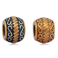 Edelstahl European Perlen, 316 L Edelstahl, Trommel, plattiert, ohne troll & Schwärzen, keine, 9x12mm, Bohrung:ca. 4mm, 10PCs/Tasche, verkauft von Tasche