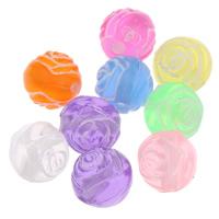 Transparente Acryl-Perlen, Acryl, Blume, transluzent, gemischte Farben, 8mm, Bohrung:ca. 1mm, ca. 1800PCs/Tasche, verkauft von Tasche
