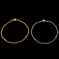 Europa Armband Kette, Messing, plattiert, unterschiedliche Länge der Wahl & Schlangekette, keine, frei von Blei & Kadmium, 3mm, verkauft von Strang