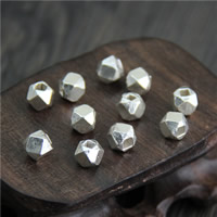 925 Sterling Silber Perlen, verschiedene Größen vorhanden & facettierte, verkauft von Menge