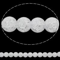 Natürliche klare Quarz Perlen, Klarer Quarz, rund, synthetisch, verschiedene Größen vorhanden & Knistern, Bohrung:ca. 1mm, verkauft per ca. 15.5 ZollInch Strang
