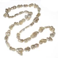 Natürliche Süßwasser Perle Halskette, Natürliche kultivierte Süßwasserperlen, Keishi, 11x17x8mm-21x20x9mm, verkauft per ca. 31 ZollInch Strang