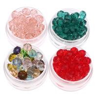 Rondell Kristallperlen, Kristall, facettierte, mehrere Farben vorhanden, 8x7mm, Bohrung:ca. 1mm, 72PCs/Tasche, verkauft von Tasche