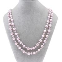 Natürliche Süßwasser Perle Halskette, Natürliche kultivierte Süßwasserperlen, Barock, Rosa, 3-5mm, 7-8mm, verkauft per ca. 55 ZollInch Strang