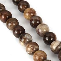Holzopal Perle, rund, natürlich, verschiedene Größen vorhanden, Länge:ca. 15 ZollInch, verkauft von Menge