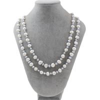 Natürliche Süßwasser Perle Halskette, Natürliche kultivierte Süßwasserperlen, Barock, 7-8mm, verkauft per ca. 47 ZollInch Strang