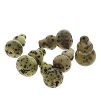 Buddhistische Perlen, Bodhi, Kalebasse, originale Farbe, 17x28mm-22x30mm, Bohrung:ca. 2mm, 20PCs/Tasche, verkauft von Tasche