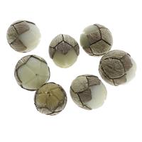Buddhistische Perlen, Bodhi, Lotus, geschnitzt, originale Farbe, 23x22mm-26x29mm, Bohrung:ca. 1.5mm, 50PCs/Tasche, verkauft von Tasche
