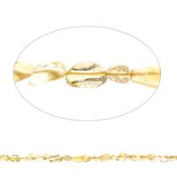Edelstein-Span, Gelbquarz Perlen, Klumpen, natürlich, November Birthstone, 4x4mm-7x10x4mm, Bohrung:ca. 1mm, ca. 50PCs/Strang, verkauft per ca. 15.5 ZollInch Strang