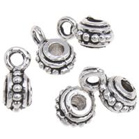Zinklegierung Stiftöse Perlen, antik silberfarben plattiert, frei von Blei & Kadmium, 4x10x6mm, Bohrung:ca. 2mm, 2mm, 100G/Tasche, verkauft von Tasche