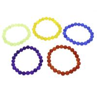 Achat Schmuck Armband, gefärbter Marmor, rund, verschiedene Größen vorhanden, keine, verkauft per ca. 7 ZollInch Strang