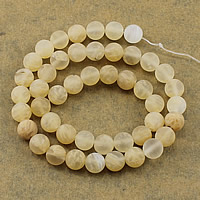braune Wassermelone Perle, rund, natürlich, verschiedene Größen vorhanden & satiniert, Bohrung:ca. 1-2mm, Länge:ca. 14.5 ZollInch, verkauft von Menge