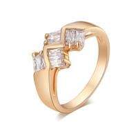 Gets® Finger Ring, Messing, vergoldet, verschiedene Größen vorhanden & mit kubischem Zirkonia & facettierte, frei von Nickel, Blei & Kadmium, 9mm, verkauft von PC