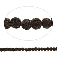 Buddhistische Perlen, Rudraksha, rund, originale Farbe, 17-19mm, Bohrung:ca. 2.5mm, Länge:ca. 15.5 ZollInch, 10SträngeStrang/Tasche, ca. 25PCs/Strang, verkauft von Tasche