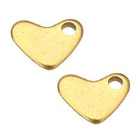 Edelstahl -Ergänzung-Kette Tropfen, Herz, goldfarben plattiert, 7x5.50x1mm, Bohrung:ca. 1.5mm, 300PCs/Menge, verkauft von Menge