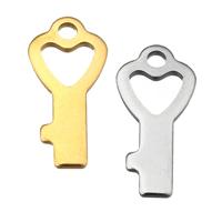 Edelstahl -Ergänzung-Kette Tropfen, Schlüssel, plattiert, keine, 8x16x1mm, Bohrung:ca. 1.5mm, 300PCs/Menge, verkauft von Menge