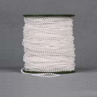 Garland-Strang Perlen, ABS-Kunststoff-Perlen, mit Kunststoffspule, rund, weiß, 2.5mm, 100m/PC, 100m/PC, verkauft von PC