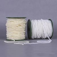 Garland-Strang Perlen, ABS-Kunststoff-Perlen, mit Kunststoffspule, rund, keine, 4mm, 40m/PC, 40m/PC, verkauft von PC