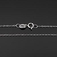925 Sterling Silber Halskette Kette, unterschiedliche Länge der Wahl & Oval-Kette, 1.50x1x0.20mm, 10SträngeStrang/Menge, verkauft von Menge