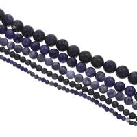 Sodalith Perlen, Sosalith, rund, verschiedene Größen vorhanden, Bohrung:ca. 1mm, Länge:ca. 15 ZollInch, verkauft von Tasche