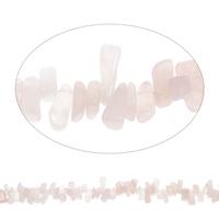 Edelstein-Span, Rosenquarz, Klumpen, 9x10mm-10x18mm, Bohrung:ca. 0.8mm, Länge:ca. 15 ZollInch, 5SträngeStrang/Tasche, ca. 95PCs/Strang, verkauft von Tasche