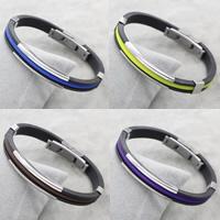 PU Schnur Armbänder, Edelstahl, mit PU Leder, keine, 39x9x5mm, verkauft per ca. 7.5 ZollInch Strang