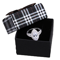 kiss me® Finger Ring, 925 Sterling Silber, mit Karton-box, Pferdeauge, Micro pave Zirkonia, 18mm, Größe:6, verkauft von PC