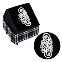 kiss me® Finger Ring, 925 Sterling Silber, mit Karton-box, Micro pave Zirkonia, 36mm, Größe:6, verkauft von PC