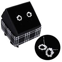 kiss me® Schmuck Ohrring, 925 Sterling Silber, mit Karton-box, ohne Ohrmutter & Micro pave Zirkonia, 9x9.5x2.5mm, 0.7mm, verkauft von Paar