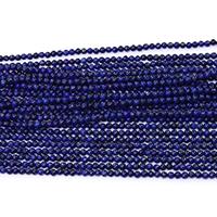 Synthetischer Lapislazuli Perlen, rund, verschiedene Größen vorhanden, Bohrung:ca. 0.5mm, Länge:ca. 15.5 ZollInch, verkauft von Menge