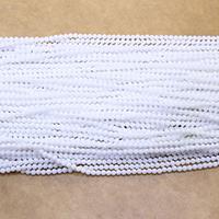Weiße Porzellan Perlen, rund, natürlich, verschiedene Größen vorhanden, Bohrung:ca. 0.5mm, Länge:ca. 16.5 ZollInch, verkauft von Menge
