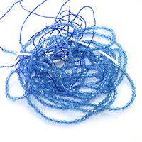 Natürliche blaue Achat Perlen, Blauer Achat, rund, verschiedene Größen vorhanden & facettierte, Länge:ca. 15.5 ZollInch, verkauft von Menge