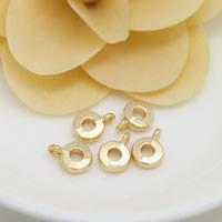 Messing Stiftöse Perlen, Kreisring, 24 K vergoldet, frei von Nickel, Blei & Kadmium, 8x11x3mm, Bohrung:ca. 1.5mm, 3mm, 100PCs/Menge, verkauft von Menge