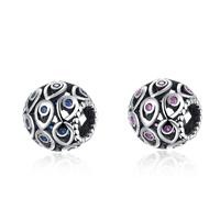 kommen on® Schmuck Beads, Thailand, rund, Micro pave Zirkonia & ohne troll & hohl, keine, 11x11mm, Bohrung:ca. 5mm, verkauft von PC