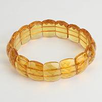 Kristall Armbänder, facettierte, orange, 16.50mm, verkauft per ca. 8 ZollInch Strang