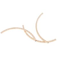 Eisen gebogene Rohr Perlen, KC goldfarben plattiert, frei von Blei & Kadmium, 115x5mm, Bohrung:ca. 3.5mm, verkauft von PC