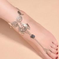 Mode Toe Fußkette, Zinklegierung, mit Verlängerungskettchen von 2lnch, plattiert, Twist oval, frei von Nickel, Blei & Kadmium, 170mm, Länge:ca. 8.2 ZollInch, 3SträngeStrang/Menge, verkauft von Menge