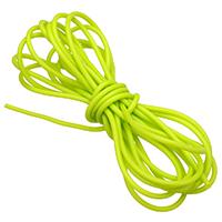 Kautschukband, Gummi, hohl, glitzer grün, 2mm, 1000m/Menge, verkauft von Menge
