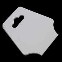 Papier Necklace \u0026 Bracelet Display Card, weiß, 44x95mm, 200PCs/Tasche, verkauft von Tasche
