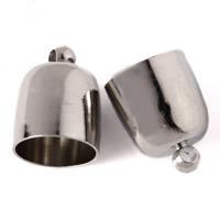Messing Endkappe, Platinfarbe platiniert, verschiedene Größen vorhanden, frei von Blei & Kadmium, 1000PCs/Tasche, verkauft von Tasche