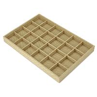 Vitrine, Leinen, mit Karton, Rechteck, 24 Zellen, 241x352x31mm, 5PCs/Menge, verkauft von Menge