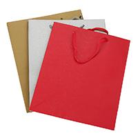 Mode Geschenkbeutel, Papier, mit Nylonschnur, Rechteck, keine, 210x249x100mm, 48PCs/Menge, verkauft von Menge