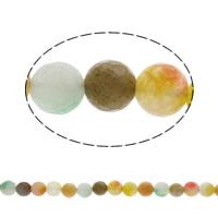 Natürliche Crackle Achat Perlen, Geknister Achat, rund, facettierte, gemischte Farben, 10mm, ca. 38PCs/Strang, verkauft per ca. 15.5 ZollInch Strang