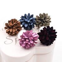 Doppelseitigen Ohrstecker, ABS-Kunststoff-Perlen, mit Baumwollsamt, Edelstahl Stecker, Blume, keine, 16x26mm, verkauft von Paar