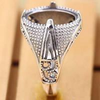 Thailand Ringschiene, einstellbar, 18mm, Innendurchmesser:ca. 11.5x15.5mm, Größe:7, 3PCs/Tasche, verkauft von Tasche