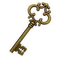 Zinklegierung Schlüssel Anhänger, antike Bronzefarbe plattiert, frei von Nickel, Blei & Kadmium, 29x69x5mm, 100PCs/Menge, verkauft von Menge