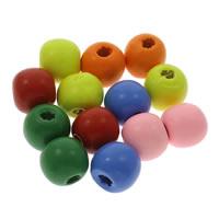 Holz Perle, rund, verschiedene Größen vorhanden, gemischte Farben, Bohrung:ca. 1mm, verkauft von Tasche