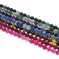 Natürliche Crackle Achat Perlen, Geknister Achat, rund, verschiedene Größen vorhanden & facettierte, keine, Bohrung:ca. 1mm, verkauft per ca. 14.5 ZollInch Strang
