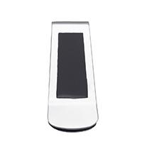 Mode-Geld-Clip, Edelstahl, Emaille, schwarz, 22.50x52x5mm, verkauft von PC